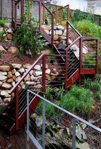wooden-stairs-on-hill-landscaping-design